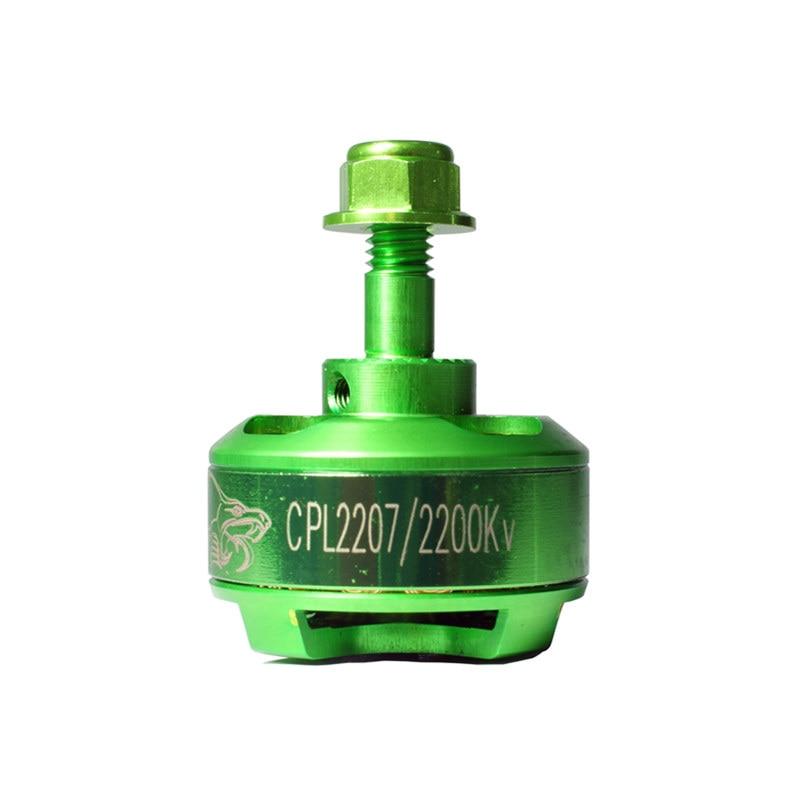 New for Cobra CPL2207 Green 2750KV 2600KV 2400KV 2200KV 1500KV Brushless Motor For 220 280 FPV Racing Frame RC Drone Quadcopter