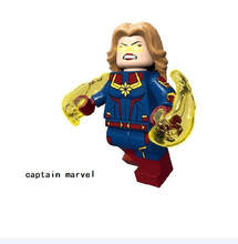 Captain Marvel Brie Larson Figure Building Bricks Blocks Compatible With Lego Avengers Super Hero(China)