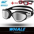 Детские Взрослые плавательные очки для детей, очки для плавания, профессиональные противотуманные водонепроницаемые очки для плавания, оч...