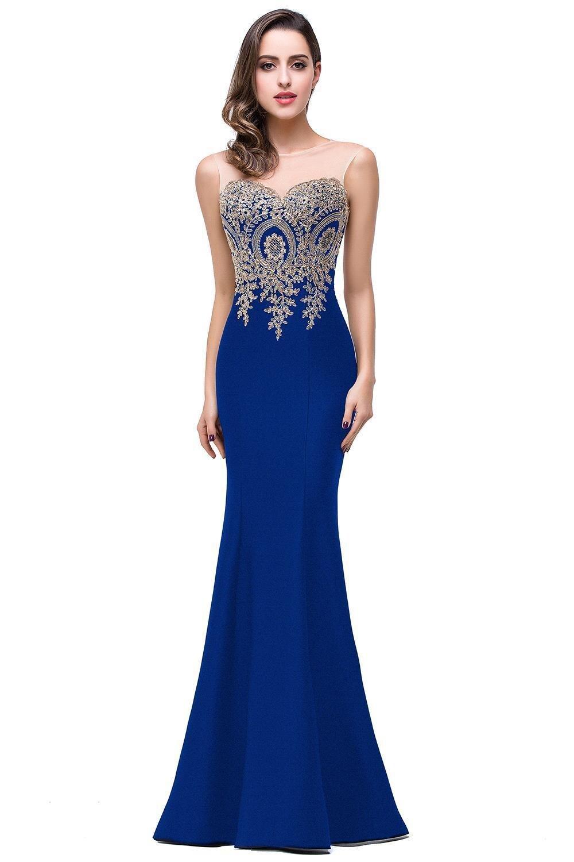 Barato Con applicaciones de Oro Sirena De azul real y lavanda ...