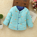 Baby Coat 2016 New Autumn Winter Coat Cartoon Bear Cotton Jacket Both Sides Can Wear Baby Clothing Girl Baby Clothing Boy 3Color