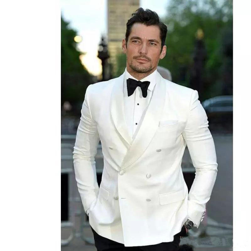 Mens Suits for Grooms Shawl Lapel Lastest Design High Quality Slim Tuxedos Groomsmen Wedding Party Best Man Suits (Jacket+Pants)