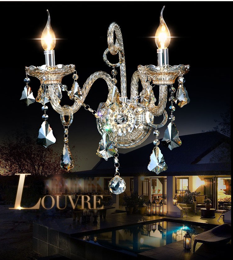 Crystal Wall Lamp Wall Light Fixture With Beautiful Cognac-Colored Crystal Guaranteed 100%+Free shipping! guaranteed 100
