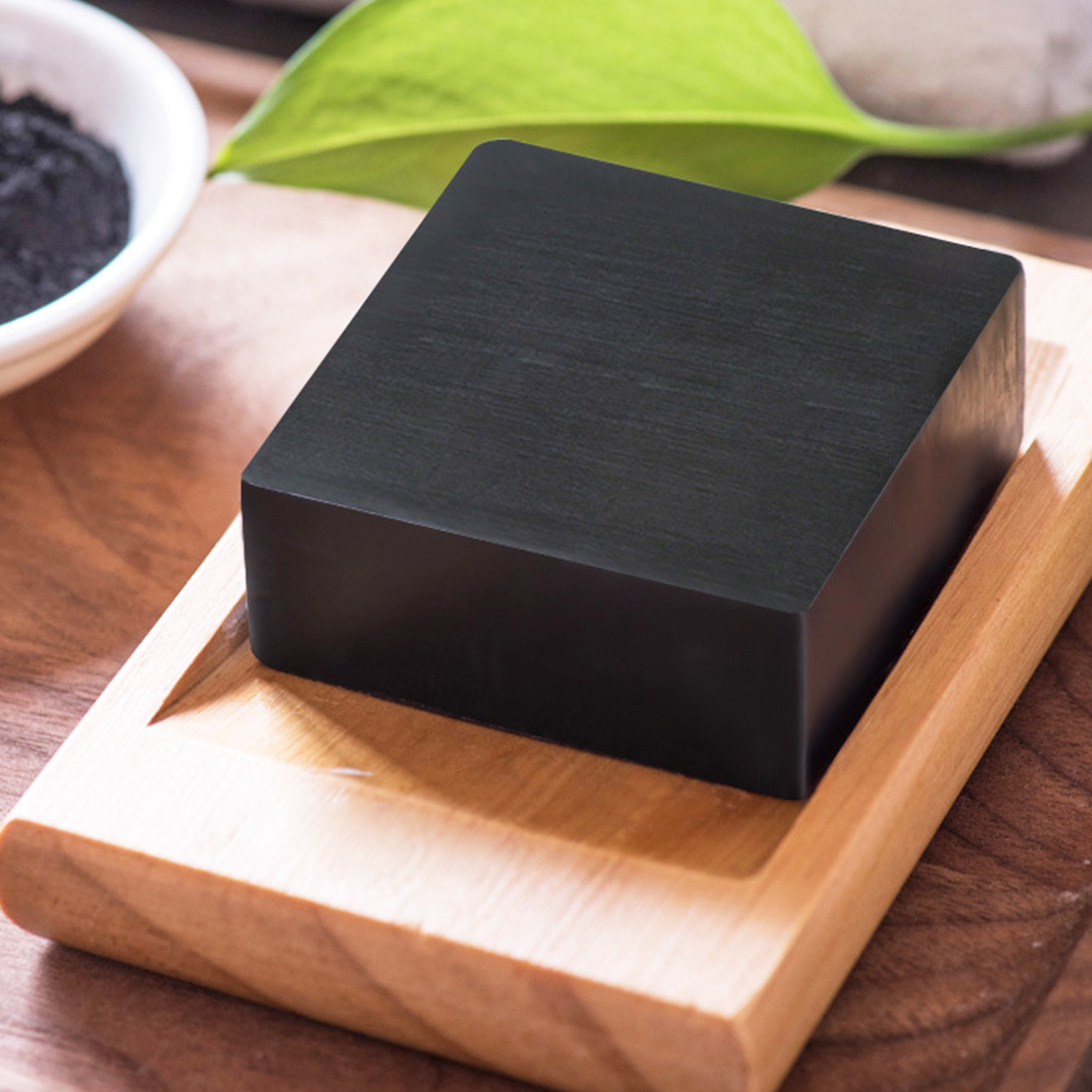Natural Bamboo Charcoal Black Square Handmade Soap Face Washing Deep Cleaning Pore Blackhead AcneOil-control Dead Skin  Remover
