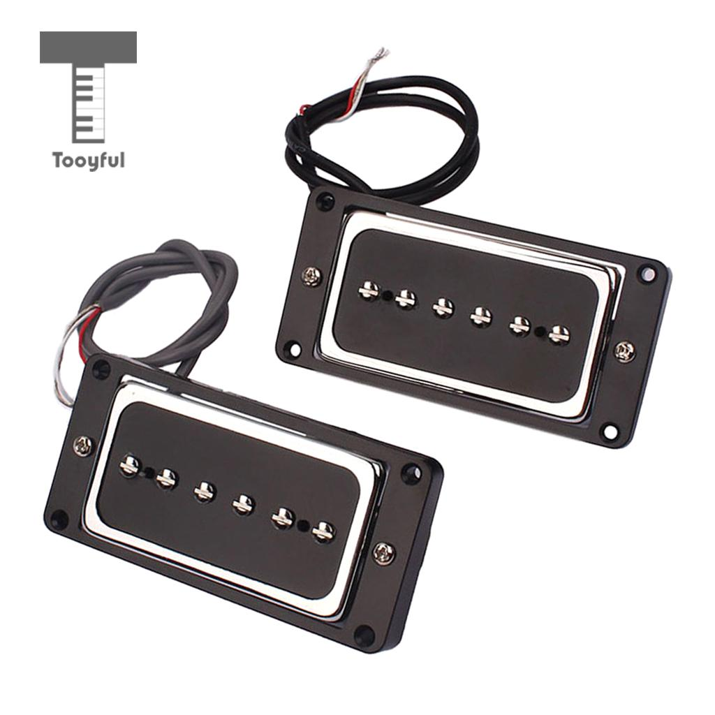 Tooyful Humbucker Pickup Set Single Alnico 5 Pickup P90 for Electric Guitar Bridge tsai hotsale vintage voice single coil pickup for stratocaster ceramic bobbin alnico single coil guitar pickup staggered pole