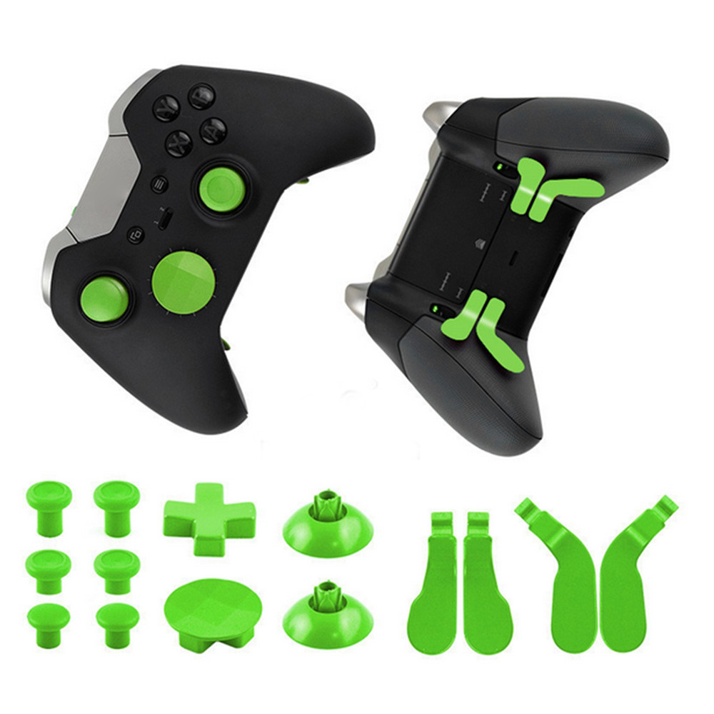 Full set of parts Replacement for Xbox One Elite Controller Gamepad Thumb Grips Stick D Pad&Bumper Button Bullet kit with Tools