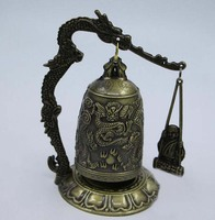 Bronze Instrument Chimes Monk Greeting Cabinet And Chic