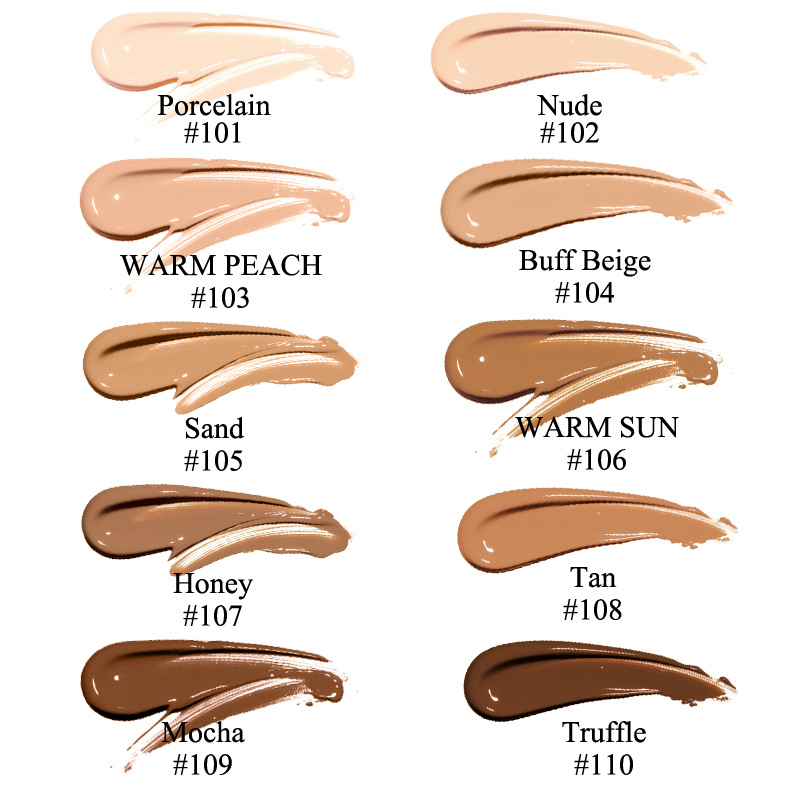 Image 5 - PHOERA Foundation Cream Mineral Whitening Long Wear Oil Control Concealer Liquid Foundation Soft Matte Facial Base Cream TSLM1