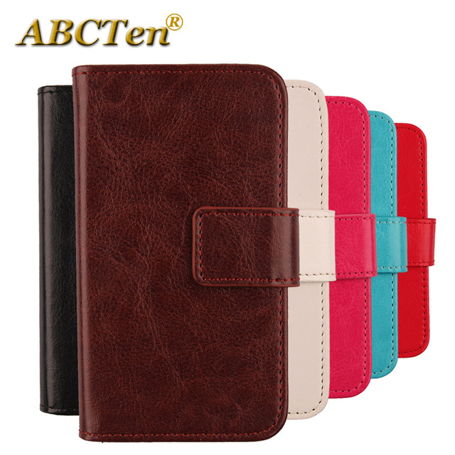 brand new 62c37 75845 US $3.39 15% OFF|ABCTen Fashion Flip PU Leather Case Wallet Style With Card  Phone Cover For Optus X Sleek 5''-in Flip Cases from Cellphones & ...