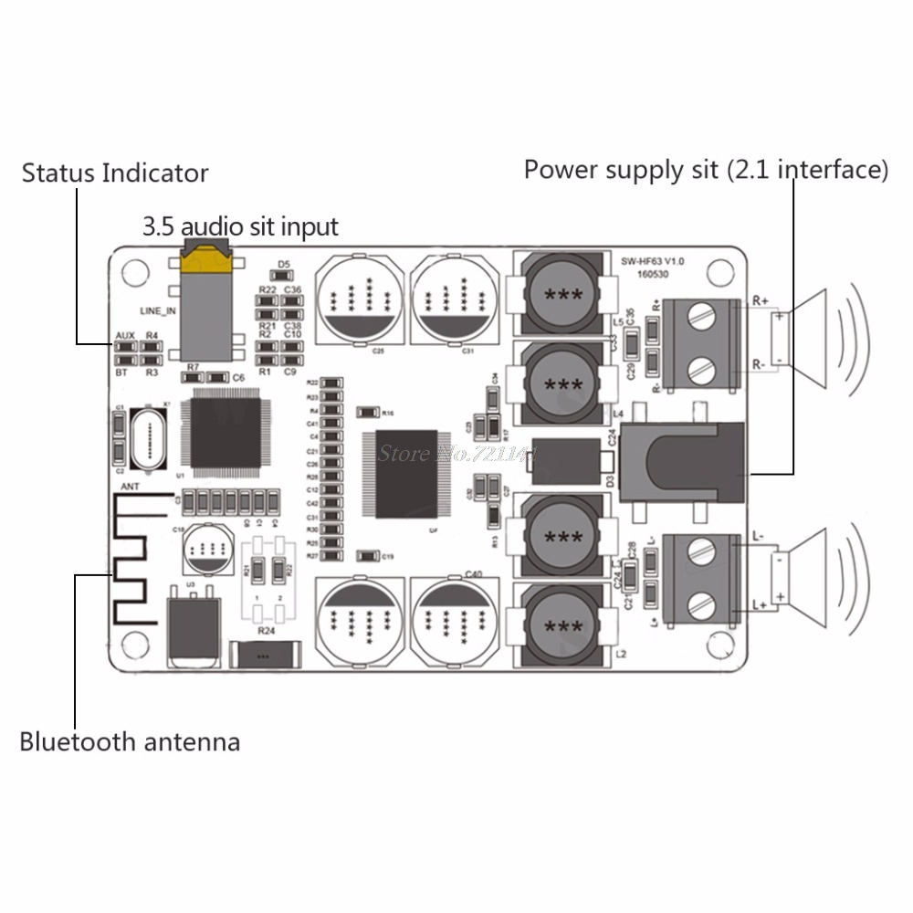 Amplifier-Board Bluetooth-Receiver TDA7492P Dual-Channel DIY Mini Power 2x25w Dropship