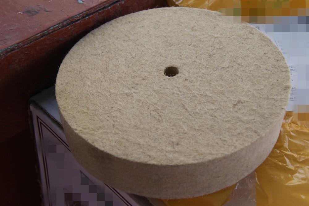 1pcs 150mm Felt Wool Buffing Polishing Wheels Pads Polisher Size 150mm(OD)*30mm(TH)*10mm(ID) 1pc 4inch polishing buffing grinding wheel wool felt polisher disc pad 100mmx25mm polisher pads 4 inch