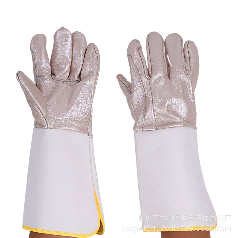 Work Gloves for Welder Cowhide Leather Men Working Welding Gloves Safety Protective Garden Sports MOTO Wear-resisting Gloves akg n 60 nc