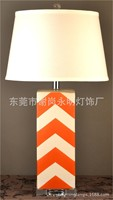 TUDA 35X68cm Free Shipping Creative Striped Orange Ceramic Table Lamp Contemporary Style Table Lamp Living Room