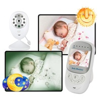 Night Vision Baby Monitor BM108 cry babies 2.4 inch TFT LCD 2 way talk Lullabies Temperature Monitor baby monitor video nanny