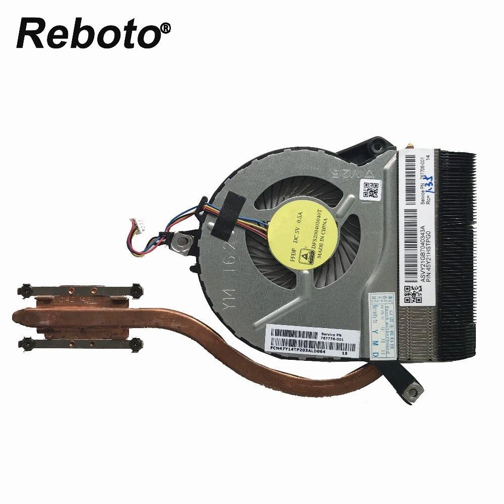 Oryginalne chłodzenie laptopa do HP 14-P 15-P 17-P 15-K 14-V chłodniczy rozpraszacz ciepła wentylatorem 767776-001 767706-001 100% testowane szybka wysyłka