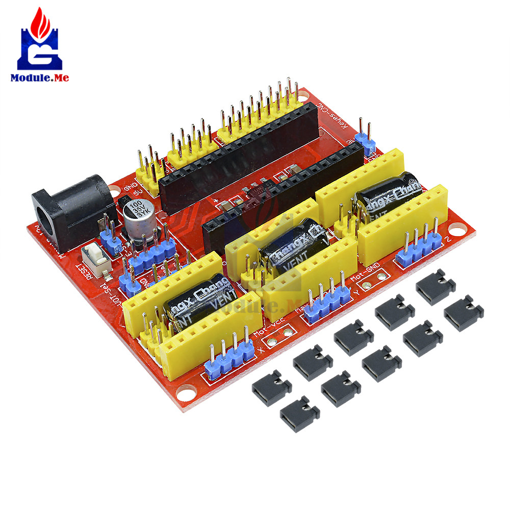 1PC CNC Shield V4 Engraving Machine Compatible with Nano 3.0 / A4988 Driver Expansion Board Module for the 3D Printer Diy Kit