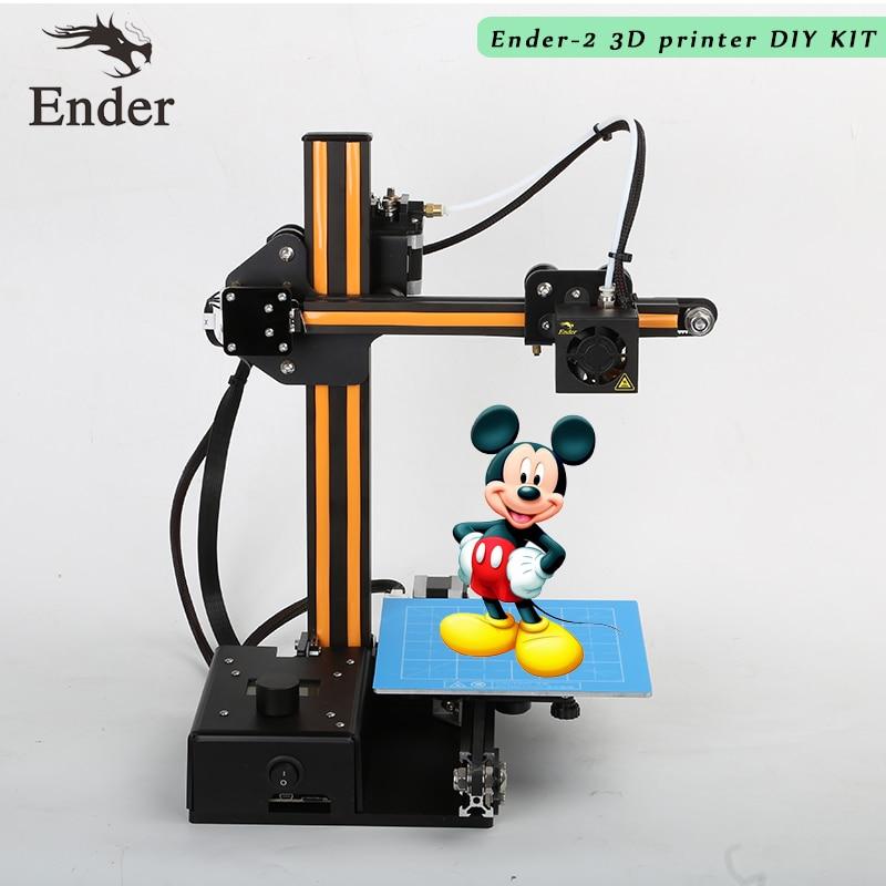 2018 Ender-2 3D Printer DIY KIT Mini printer 3D machine Reprap prusa i3 tarantula Aluminium Extrusion 3d Printer 3D n Filament oem printer reprap prusa i3 3d printer 3d printer china for 3d printing