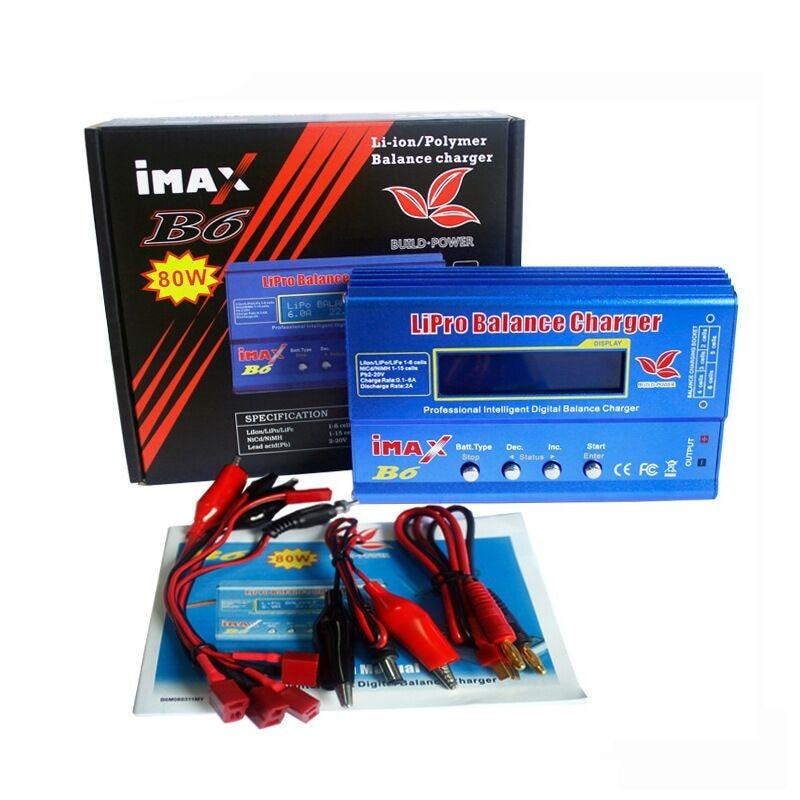 New IMAX B6 80W 6A Battery Charger Lipo NiMh Li-ion Ni-Cd Digital RC IMAX B6 Lipro Balance Charger Discharger + Adapter