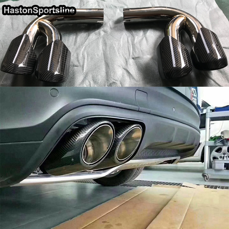 Pair stainless steel exhaust tips for VW Touareg /& Porsche Cayenne /& AUDI Q7