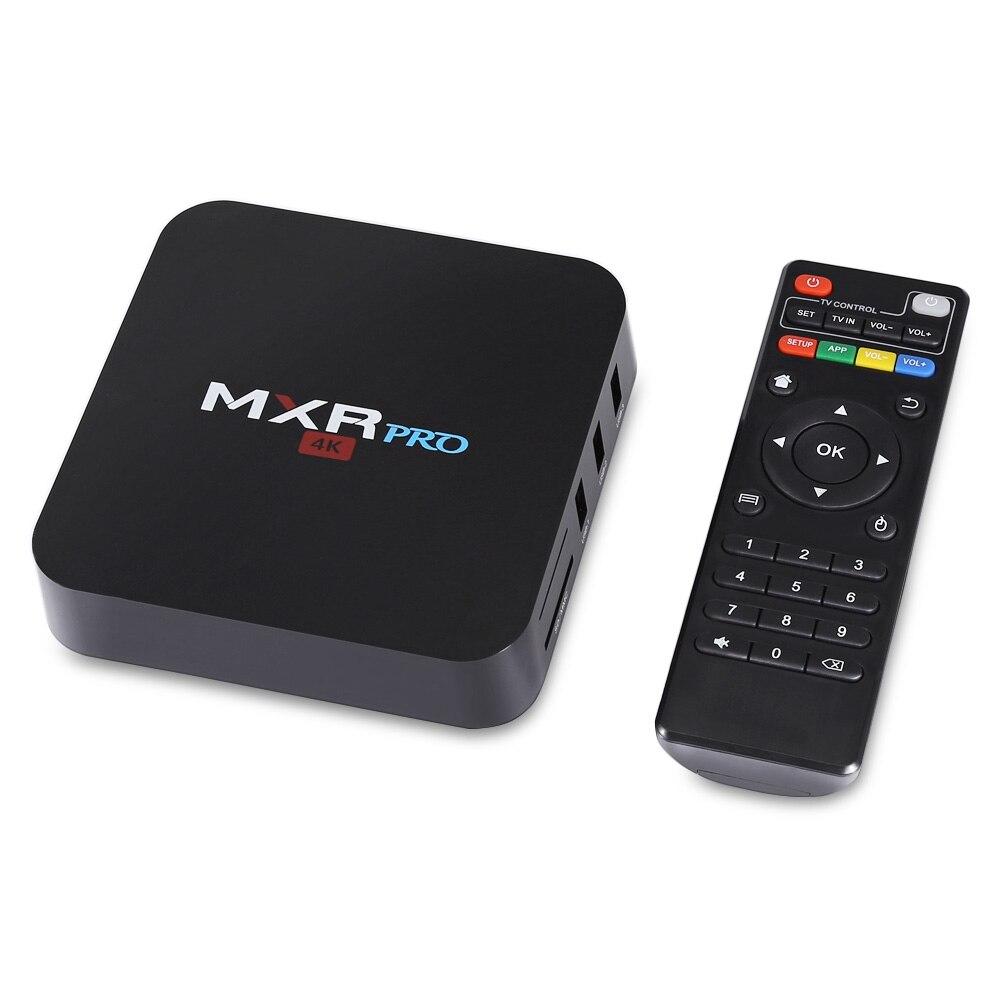 MXR PRO 4 GB DDR3 32 GB mem Android 7.1 TV Box RK3328 Quad-core prend en charge 4 K WiFi HDMI 2.0 Bluetooth 4.0 Médias Lecteur Set Top Box
