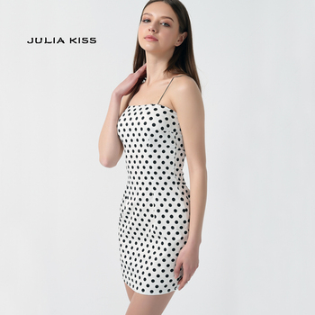 Kendall Jenner Outfit Polka Dot Dress Bodycon Mini Short Dress