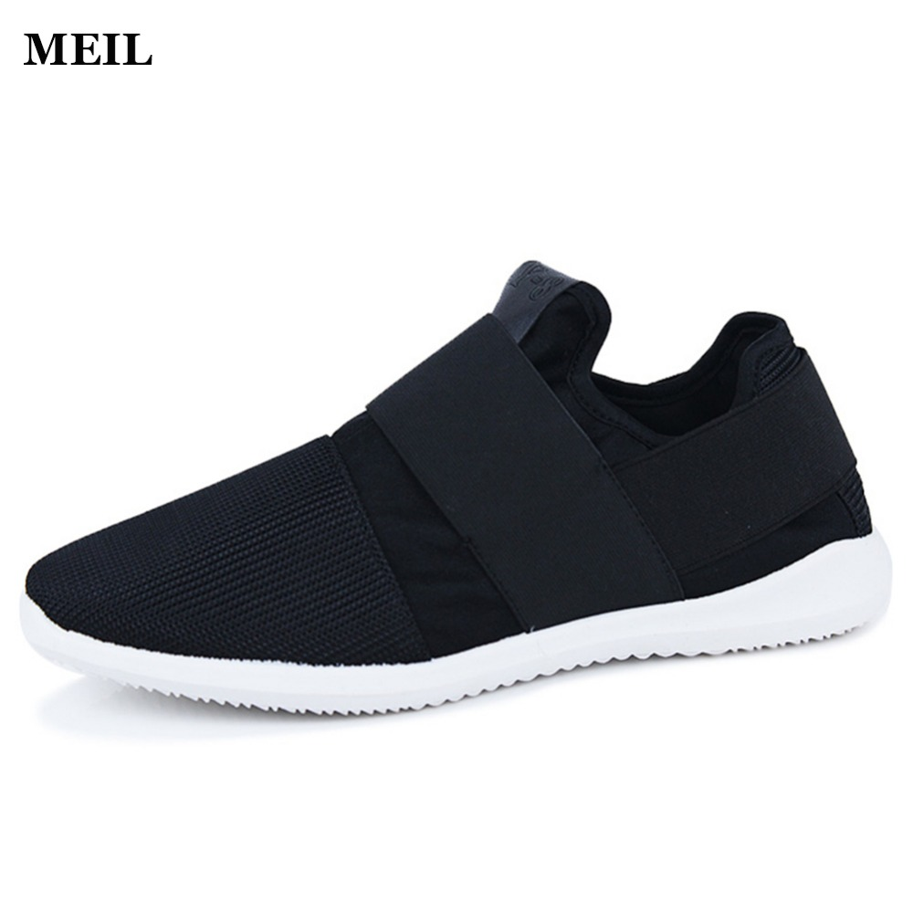 Cheap Air Mesh Fabric Mens Loafers Black White Color Cloth Patchwork Leisure Canvas Shoes for Mans Cool Walk Shoes