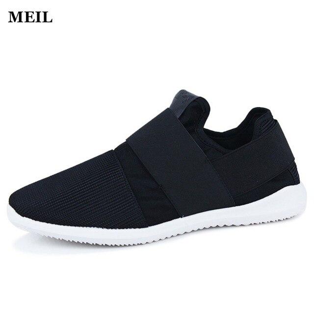 Pas cher Air Mesh Tissu Mens Mocassins Noir Blanc Couleur Tissu Patchwork  Loisirs Toile Chaussures pour 6344be7720b