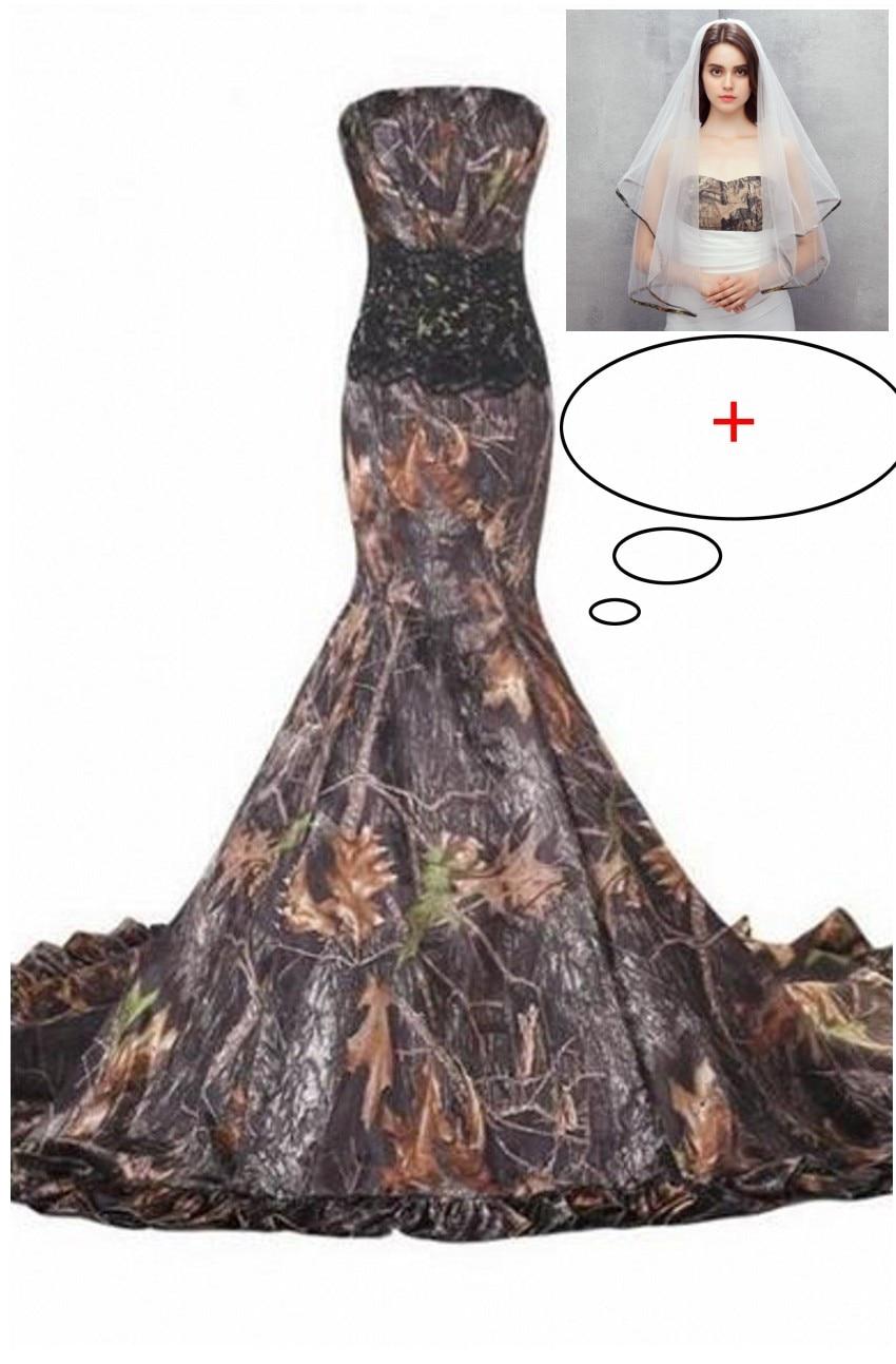 Dresses Bridesmaid Black Camouflage And Wedding