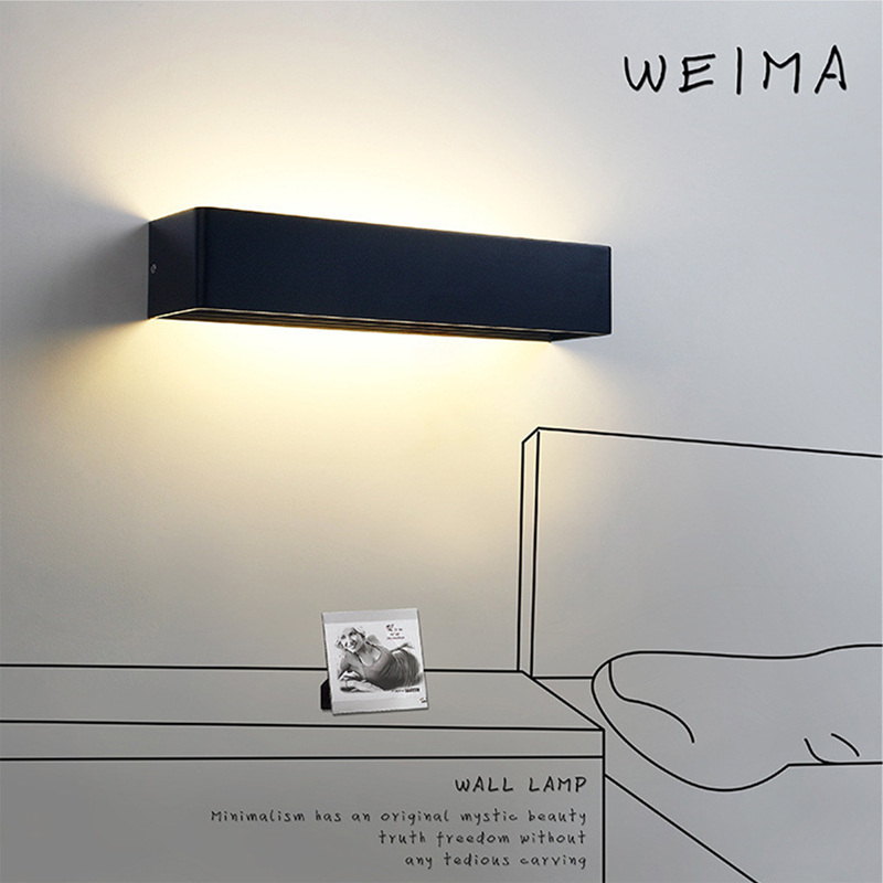 цены Modern 10cm 20cm 40cm Long Aluminum LED Wall Lamps for livingroom bathroom as Decoration Sconce Light AC 110V-260V