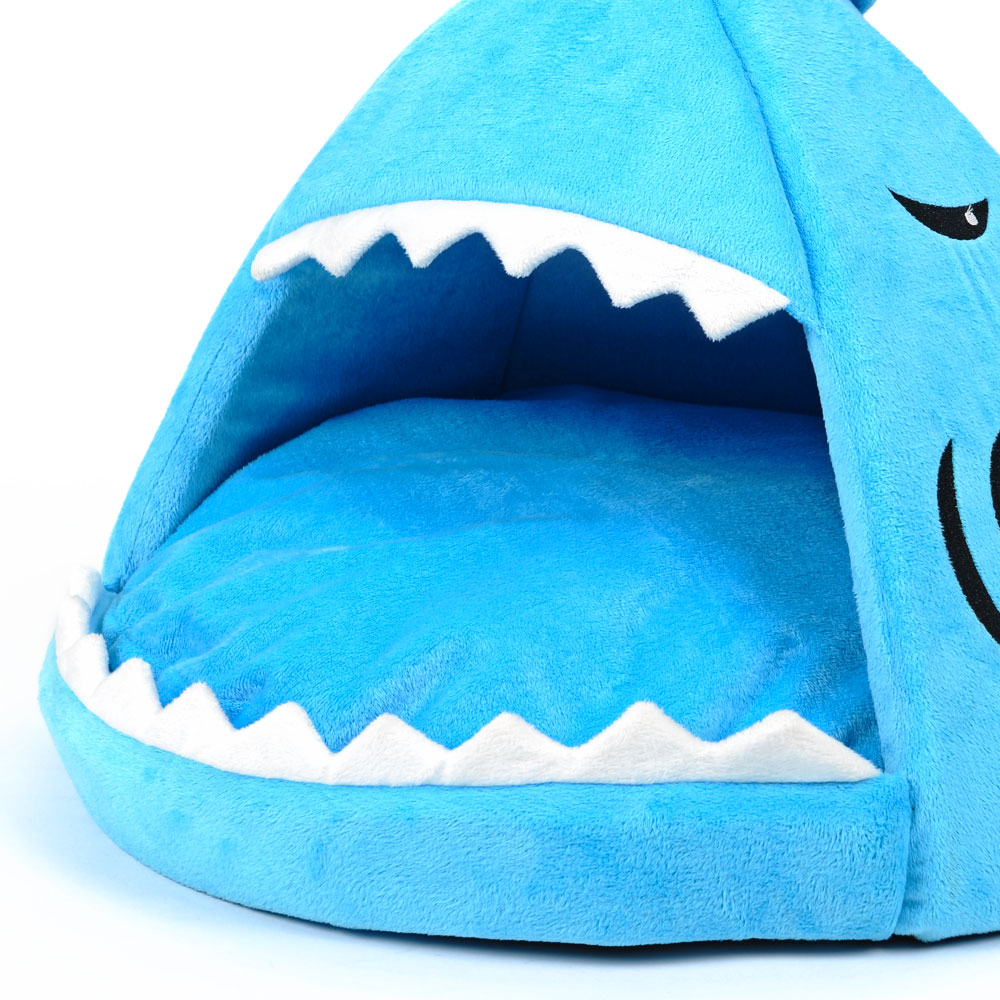 Warm Soft Winter Cat Tent House Blue Shark Design Pet Cat Dog Bed Sofa Kennel Puppy Dog Cat Cushion Pet Supplies Dropshipping-in Houses Kennels u0026 Pens from ...  sc 1 st  AliExpress.com & Warm Soft Winter Cat Tent House Blue Shark Design Pet Cat Dog Bed ...