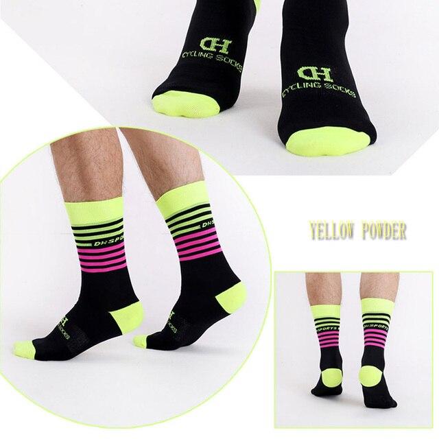 Dh esportes profissionais meias de ciclismo alta legal alto mountain bike meias esporte ao ar livre meias compressão venda correndo desconto 3