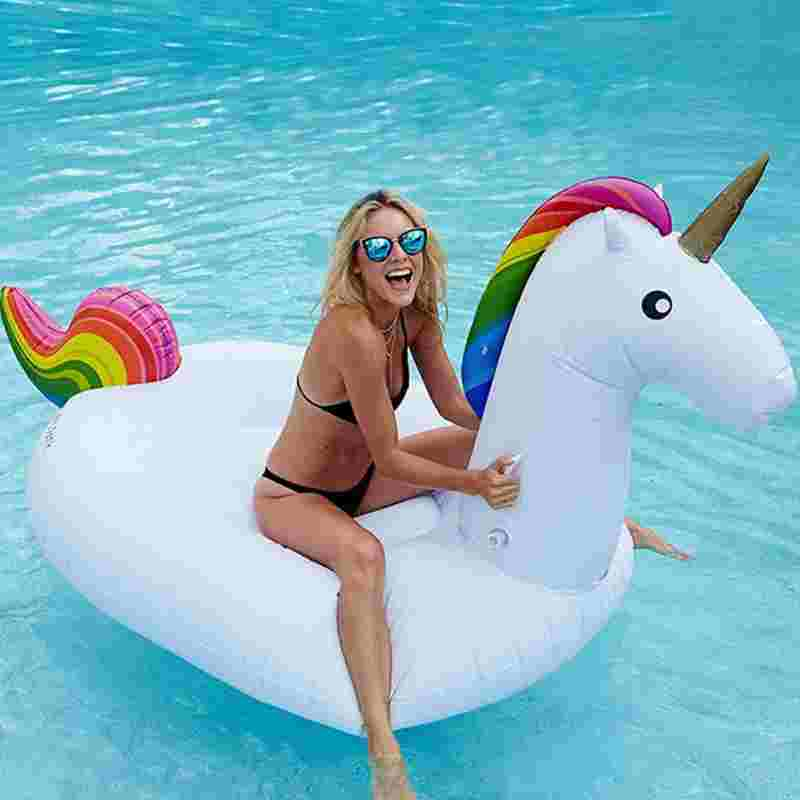 Inflatable Giant Flamingo Pontoon Inflatable Swim Ring 200CM Pegasus Inflatable Pool Inflatable Adult Toy Swim Ring