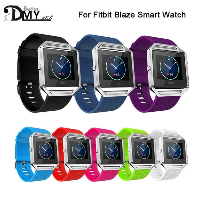 S Size Best Quality Soft Silicone Strap For Fitbit Blaze Tracker Smart Watch Band Buckle Bracelet