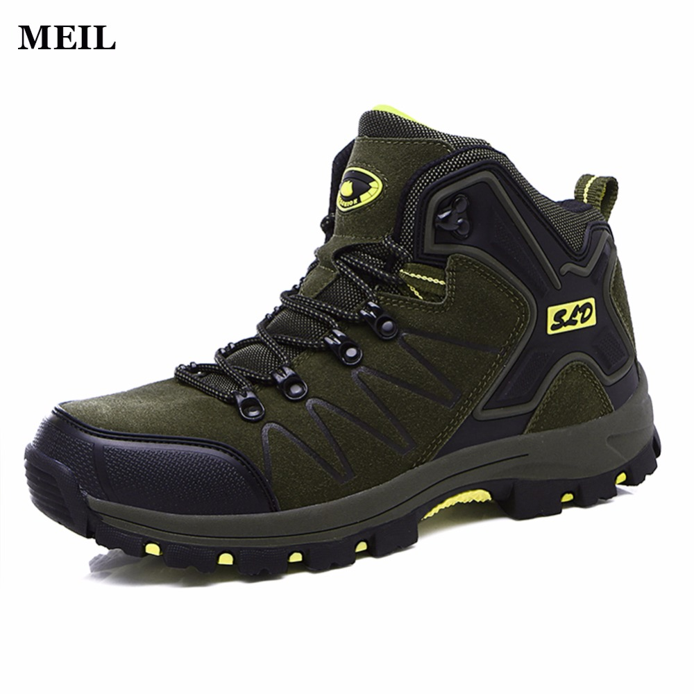 High Quality Winter Warm  Leather Snow Shoes Men Anti-skidding Casual