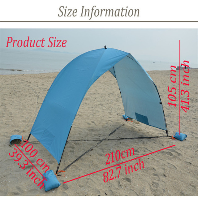 Blue Double Single Layer Beach Tent Shading Tent Sun Shelter Outdoor UV Tarp Sun Shade C&ing & Blue Double Single Layer Beach Tent Shading Tent Sun Shelter ...