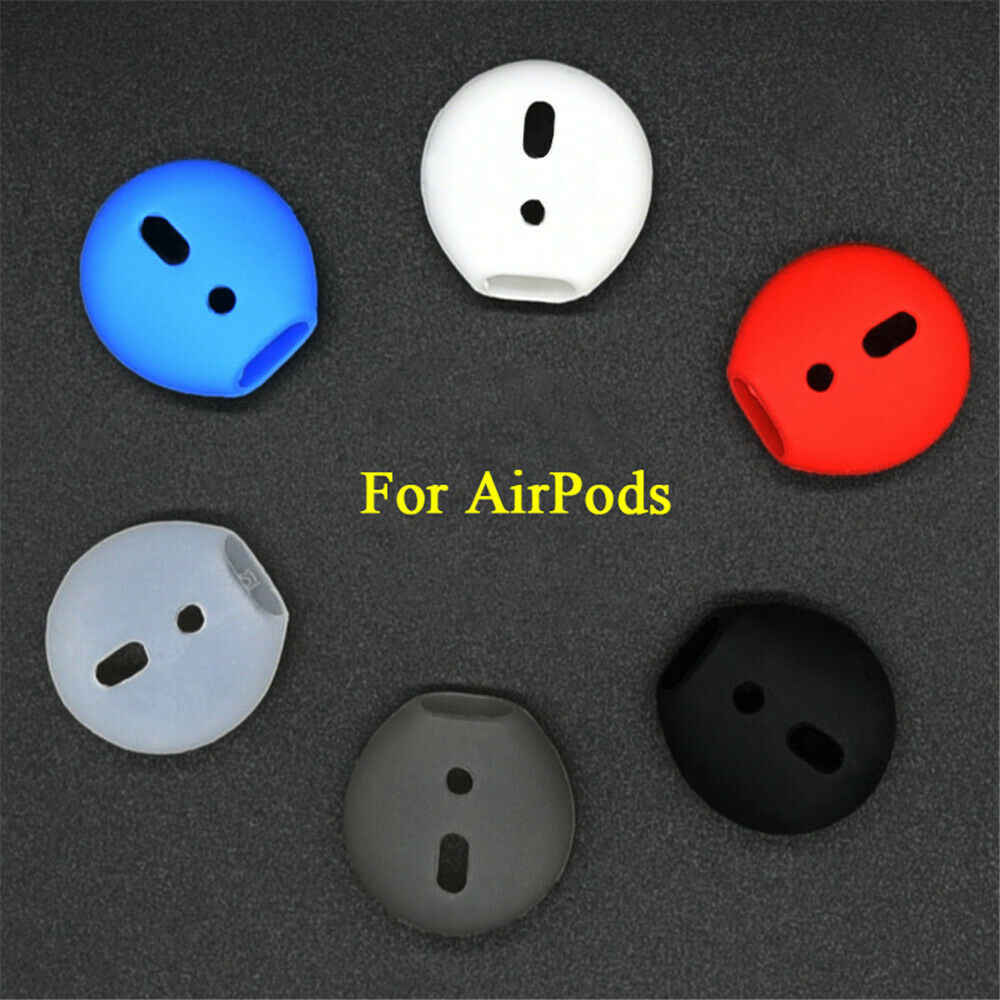 Para, odporna na wstrząsy miękkie silikonowe wkładki douszne skrzynka dla AirPods słuchawki wymiana zatyczki do uszu Protector Wkładki do uszu etui na zestaw słuchawkowy