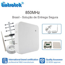 Lintratek 850 MHz cell 2G 3G CDMA signal repeater repetidor Celular 850 MHz cell phone mobile with antenna FL