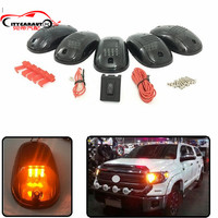 CAR STYLING EXTERIOR LED DAY DOME LIGHT CAB MARKET ROOF AMBER RUNNING LIGHTS FIT FOR LC FJ CRUISER TUNDRA 4RUNNER TACOMA HILUX