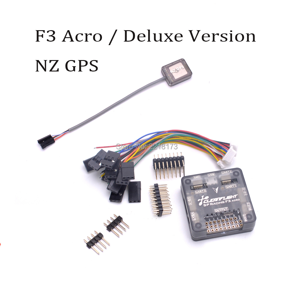 SP Racing F3 Flight Controller Board Acro / Deluxe version + Mini NZ GPS For FPV QAV250 Martian II 220mm FPV RC drone Quadcopter rc helicopters toys spracing f3 acrd acro sp3 racing f3 flight controller board aircraft fpv quadcopter speed control for ocday