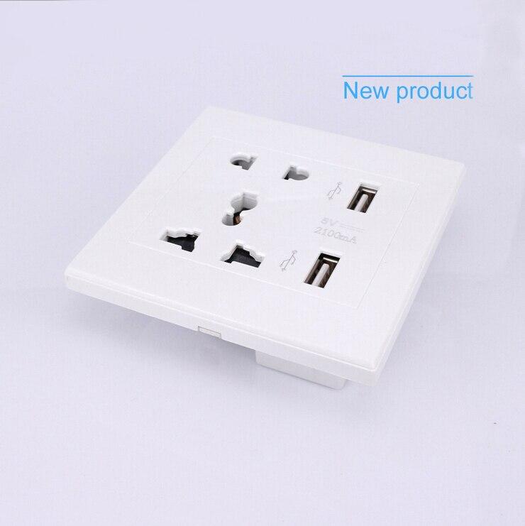 2 prese USB / 4 prese di ricarica USB Ingresso CA 85V-265V / Uscita - Accessori per elettroutensili - Fotografia 2