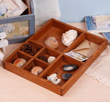 Zakka сделать старый деревянный ящик старинные коробки Семь очков коробка для хранения коробка ювелирных изделий деревянный поднос организатор стол