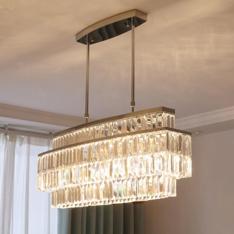Dining Room Modern Crystal Chandeliers: Jmmxiuz Modern Crystal Chandelier For Dining Room