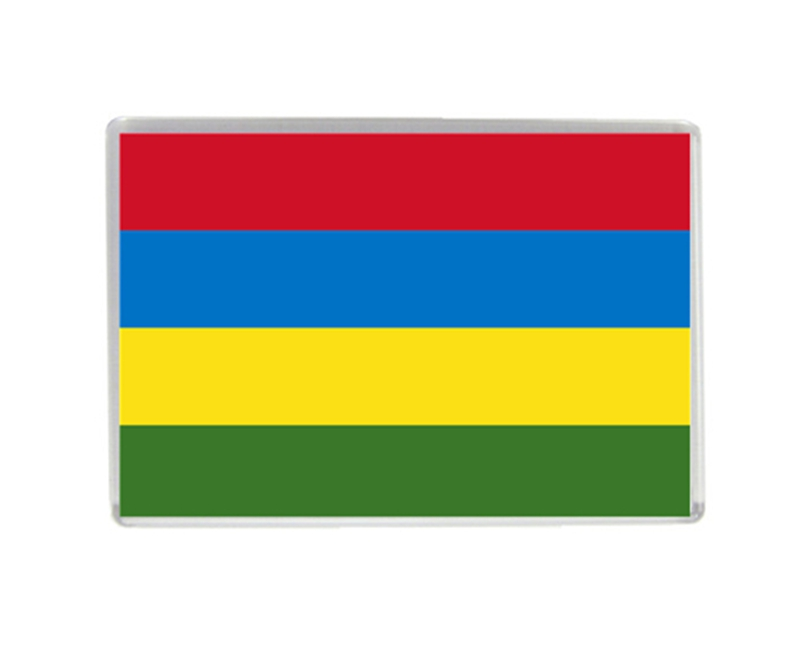 Mauritius Flag Quality Acrylic Fridge Magnets Exquisite World Tourism Souvenirs Refrigerator Magnetic Stickers Collection
