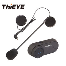 ThiEYE EarOn 3 Bluetooth Motorcycle Interphone Headset Helmet Intercom with FM Radio Soft Earpiece Snow Boarding Helmet Earphone цены