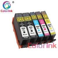 ColorInk 5Pack 364XL reemplazo de cartuchos de tinta para HP 364 xl Deskjet serie 3070A 5510 6510 B209a C510a C309a tinta de impresora de tinta de color