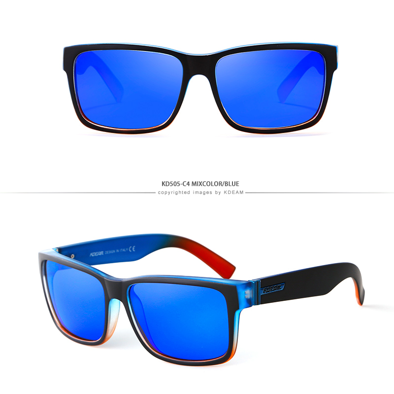 KDEAM Men Sport Polarized Sunglasses Outdoor Driving Fishing Square Glasses New