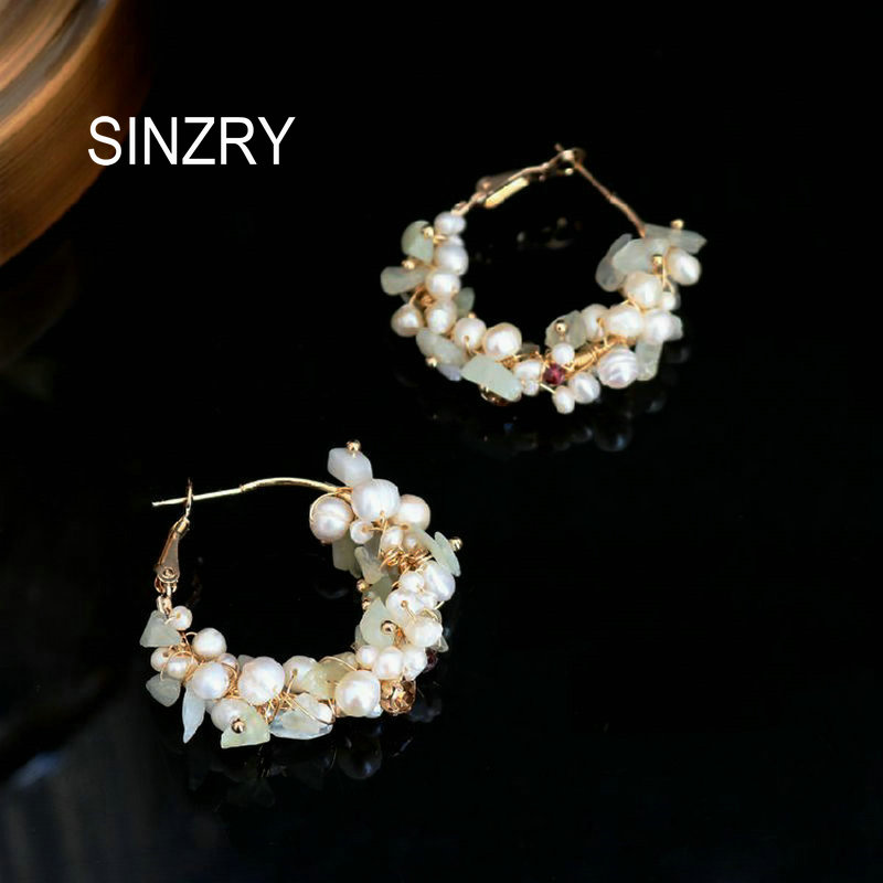 SINZRY Unique Design Natural FreshWater Pearl Handmade Creative Drop Earrings For Women Party Dangle Earrings