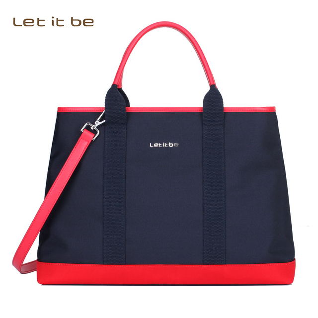 Let It Be 2017 Women Tote Bag Oxford Nylon Shoulder Por Work Black Purse