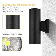 6W 10W 20W Led Cob outdoor street lighting wall lamps Up Down Dual-Head Cylinder Indoor balcony fixture Waterproof IP65 Nordic
