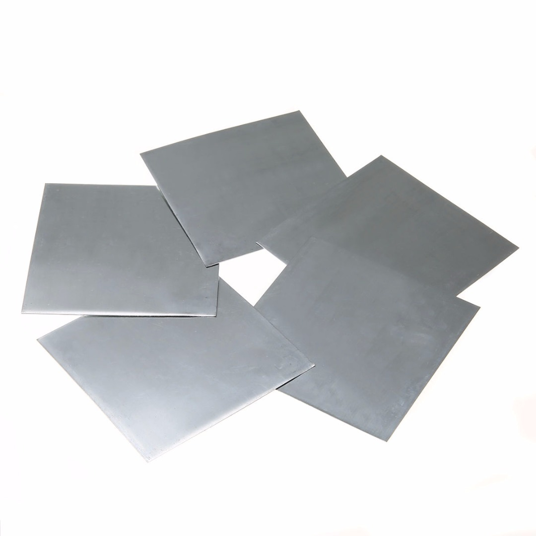 5pcs High Purity Zinc Sheet Plate 140*140*0.2mm 7.14 G/cc For Science Lab Accessories